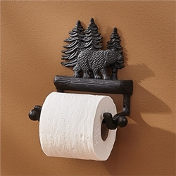 Black Bear Toilet Tissue Holder