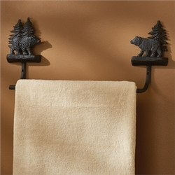 Black Bear Towel Bar - 2 options