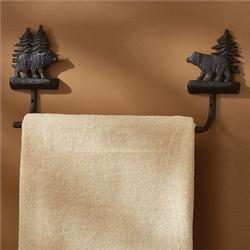 Black Bear Towel Bar - 2 options