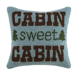 Cabin Sweet Hooked Pillow