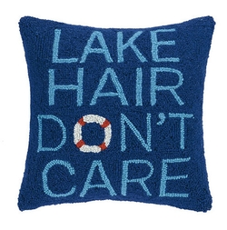 Lake Hair Don't Care Hooked Pillow