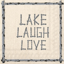 Live Lake Laugh  Napkins - Two Options