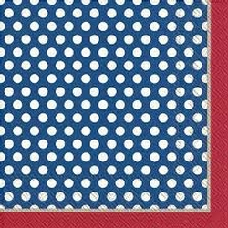 Top Blue Dots Lunchen Napkins