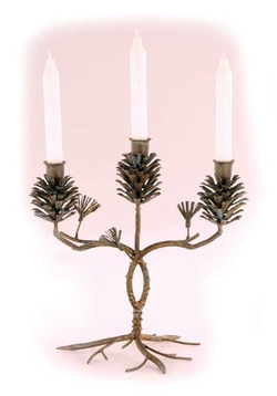 Pinecone 3 Candle Holder