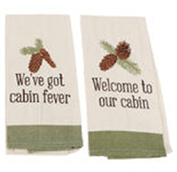 Pinecone Cabin Towel - Three Choices