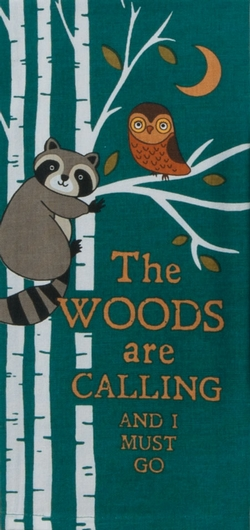 The Woods are Calling Tea Towel