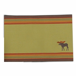 Moose Embroidered Placemat - Set of 2