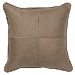 Echo Leather Accent Pillow