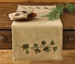 Burlap & Pine Table Runner - 13