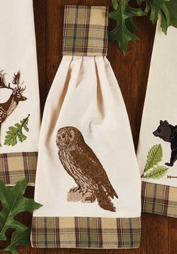 Sequoia Embroidered Hand Towel - Owl