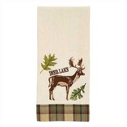Sequoia Embroidered Decorative Dishtowel-Deer