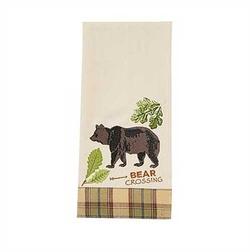 Sequoia Embroidered Decorative Dishtowel-Bear