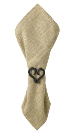 Forged Heart Napkin Ring - Set of 4