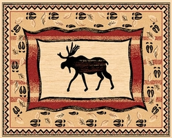 Moose Lodge Rugs - 5 Size Options