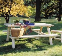 Log Picnic Table
