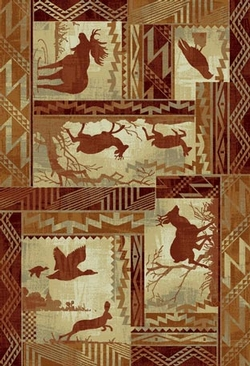 Running Deer Lodge Rug - 5 Size Options