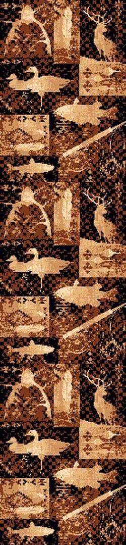 Fish. Ducks, and Deer Lodge Rug - 5 Size Options