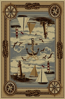 Sailing Nautical Wilderness Rug - 5 Size Options