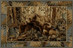 Bear Family Rug - 5 Sizes