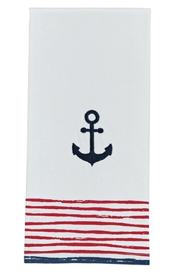 Anchor Dishtowel - Embroidered