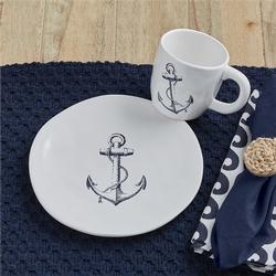 Anchor Salad Plate and Mug Set