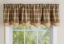 Sequoia Lined Layered Valance - 72