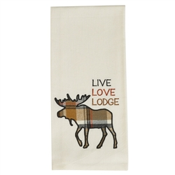 Live, Love, Lodge Applique Dish Towel