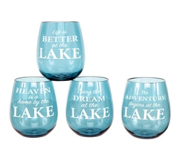 Stemless Wine Glasses - Set of 4