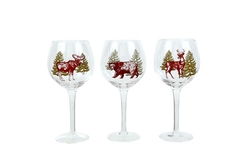 Woodland Art Wine Glasses - 3 Options