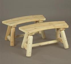 Curved Bench - set of 2