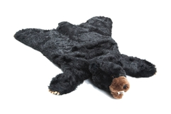 Black Bear Plush Rug