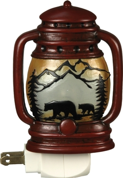 Automatic Bear Family Night Light