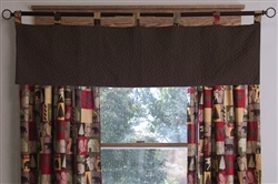 Cabin In the Woods Quilt Valance