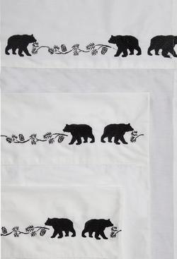 Embroidered Bear Sheet Set
