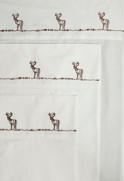 Embroidered Buck Sheet Set