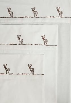 Embroidered Buck Sheet Set