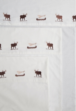 Embroidered Moose Sheet