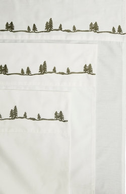 Embroidered Pines Sheet Set