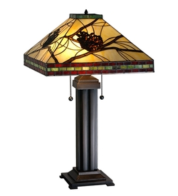 Pinecone Mission Table Lamp