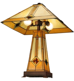 Diamond Mission Lighted Base Table Lamp