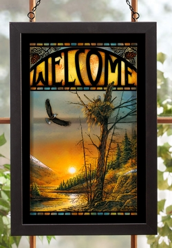 Flying Free Bald Eagles - Stained Glass Art