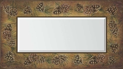 Pinecones Decorative Mirror