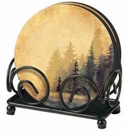 Misty Forest Coaster - Set of 4