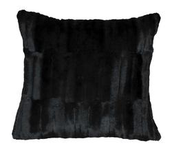 Black Bear Mink Accent Pillow 18