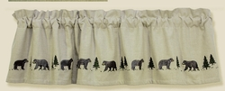 Black Bear Embroidered Valance