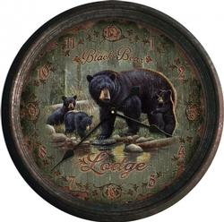 Black Bear Lodge Clock