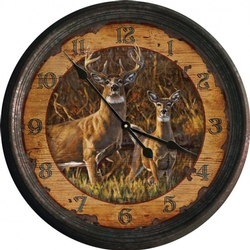 Buck & Doe Nostalgic Clock - 15