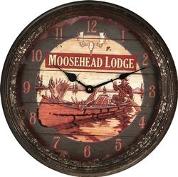 Rustic Moosehead Clock - 15