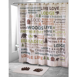 Cabin Words Shower Curtain