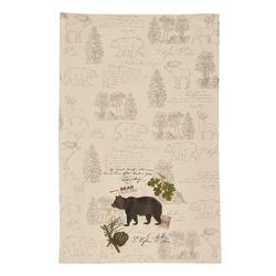 Wildlife Trail Printed Dishtowel - Bear